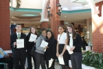 Varina High School's Marketing students participating in their DECA District Leadership Competition at Virginia Center Commons Mall.