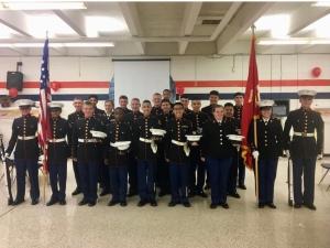 Tucker High School JROTC Marines Celebrate   Henrico Career